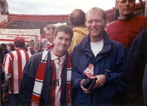 Boothen End Boys - Andy and Paddy 4th May 1997