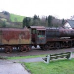 48173 - a forlorn but saved LMS Class 8F, Cheddleton February 2008