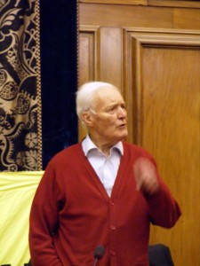 Tony Benn makes his point