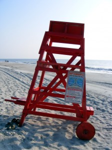 Lifeguard seat sign