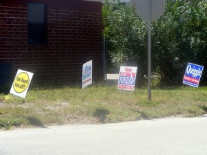Republican candidate posters