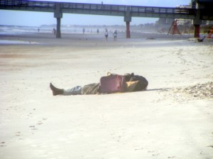 Homeless person on Jacksonville Beach