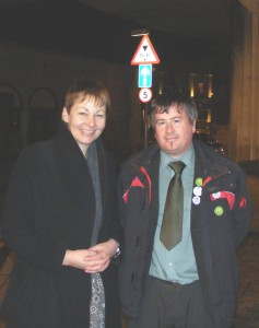 Caroline Lucas Green Party Leader and I