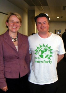 Green Party Leader Natalie Bennett and Andy